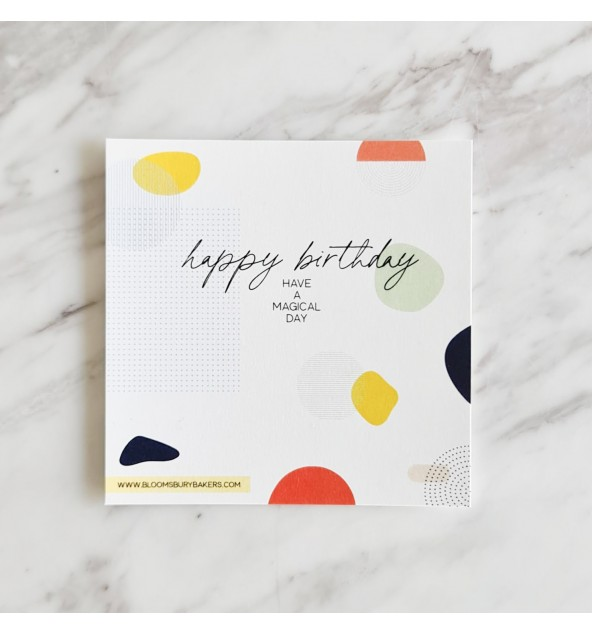 Happy Birthday Card (Colourful)