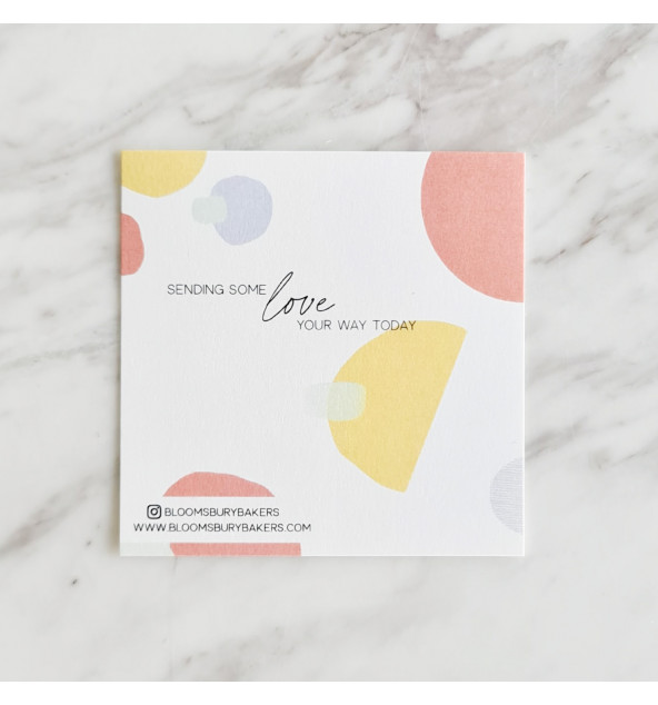 Sending Love Card (Pink/Yellow)