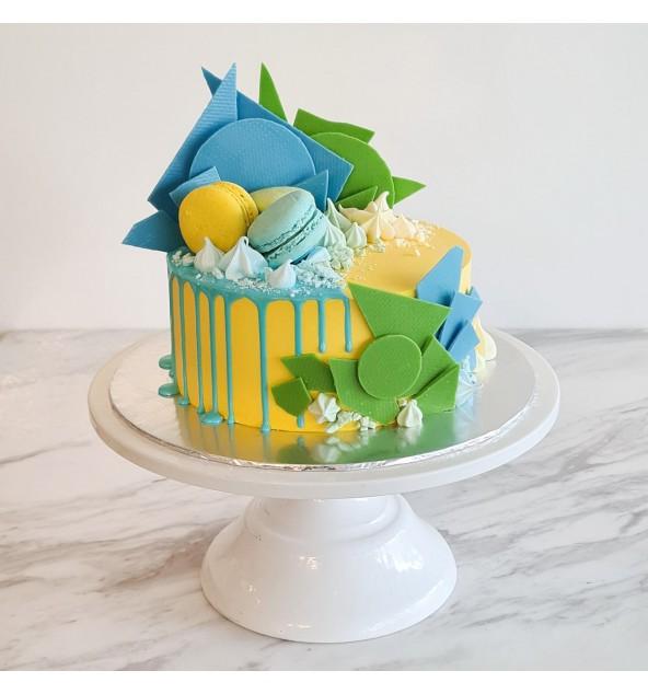 |Geometric Drip Cake|